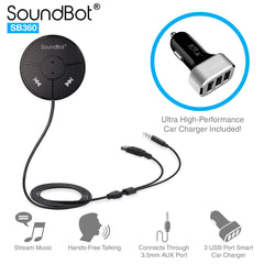 SoundBot SB360 Bluetooth Wireless 4.0 Car Kit