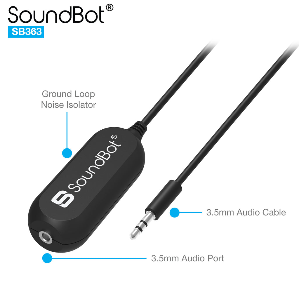 SB363 Ground Loop Noise Isolator Filter