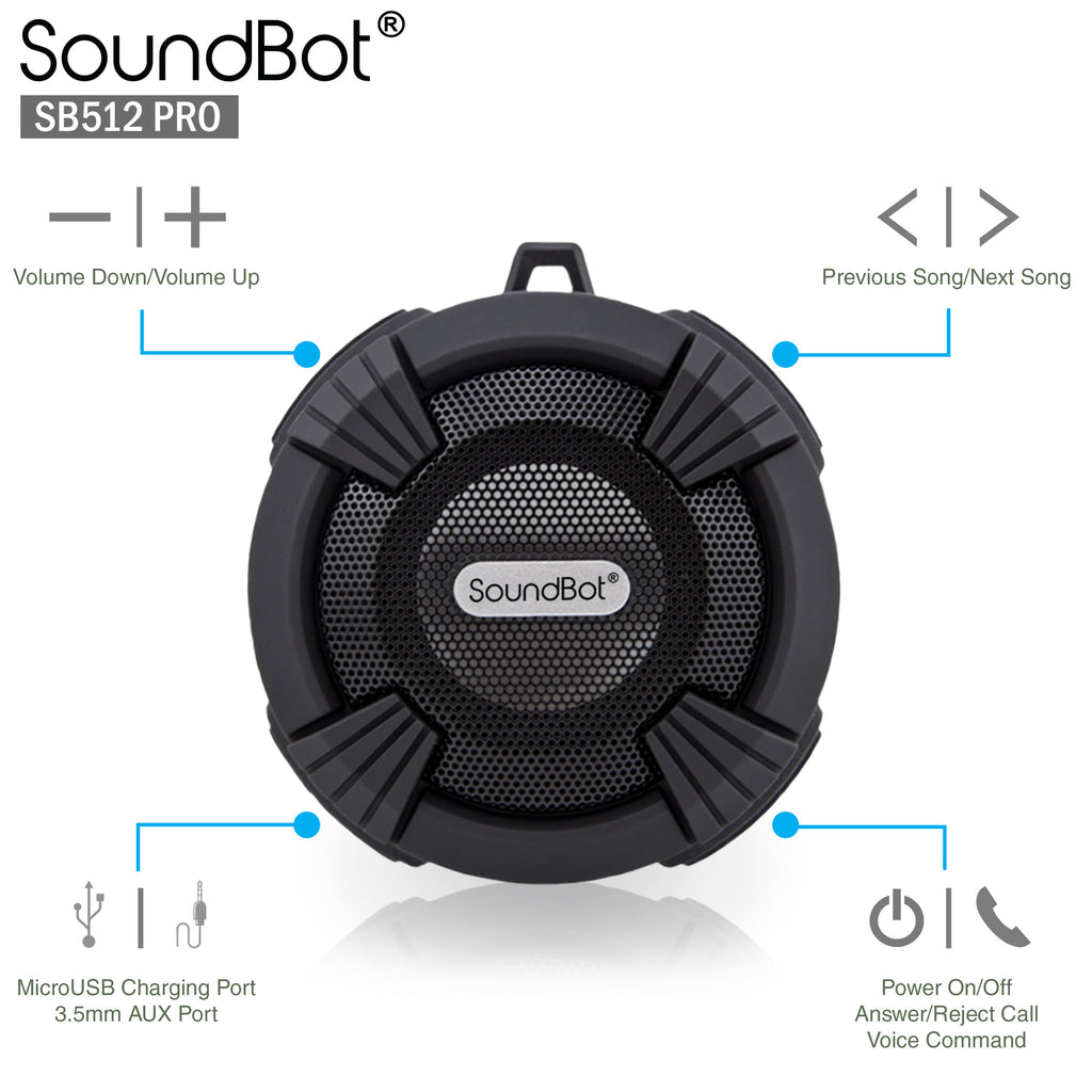 SoundBot® SB512-PRO Shower Speaker