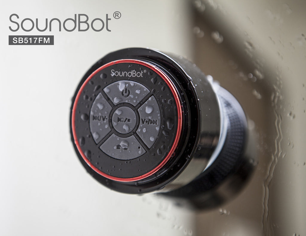 SoundBot® SB517FM IPX7 Water-Proof Bluetooth Speaker with FM Radio Speaker - SoundBot