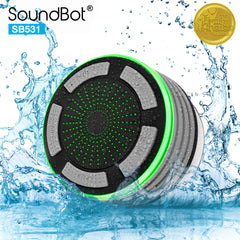 SB531 Bluetooth Wireless Water Resistant Floating Speaker with FM RADIO and LED