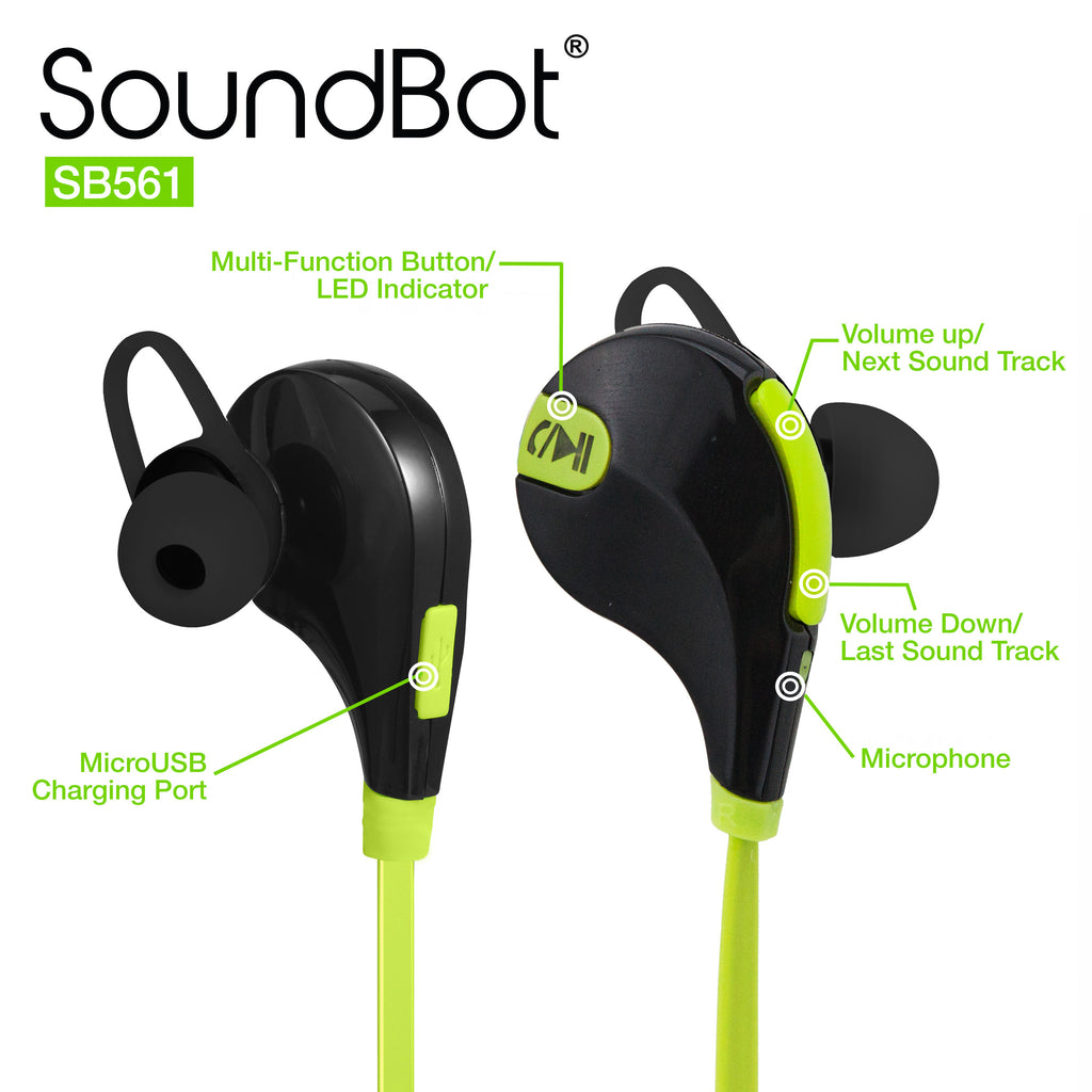 SoundBot® SB561 Bluetooth Sports Earbud - SoundBot