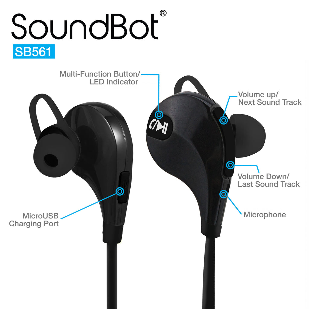 SoundBot® SB561 Bluetooth Sports Earbud