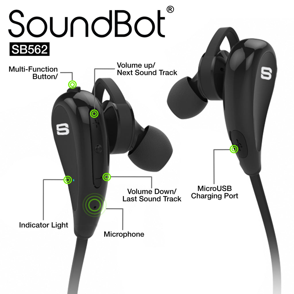 SoundBot® SB562 Bluetooth Sports Earbud - SoundBot