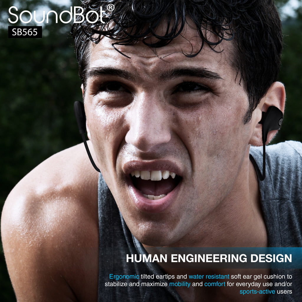 SoundBot® SB565 Bluetooth Sports Wireless Earbud - SoundBot