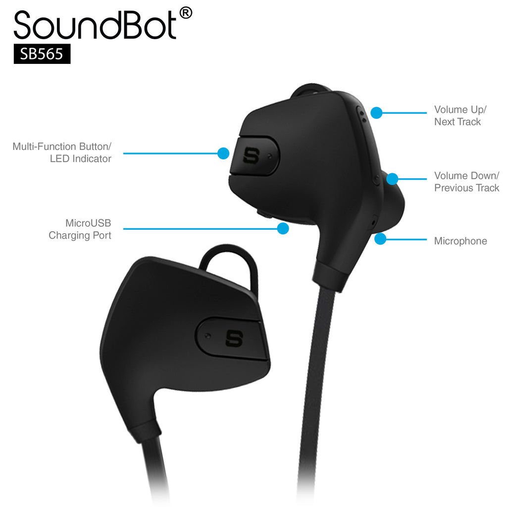 SoundBot® SB565 Bluetooth Sports Wireless Earbud