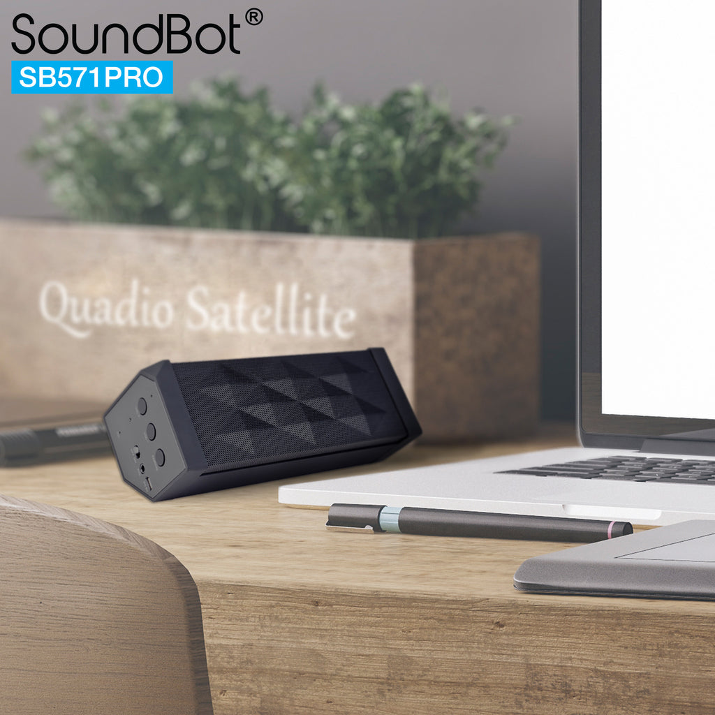 2 UNIT BUNDLE SB571PRO Bluetooth Wireless Speaker w/ Quadio Satellite Technology - Black/Black 2 UNIT COMBO BUNDLE SET