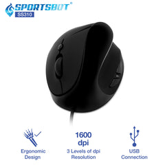 SportsBot SS310 Vertical Ergonomic Mouse