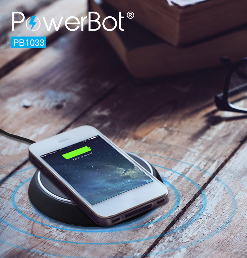 PowerBot® PB1033 Qi Enabled Wireless Charger Charging Pad - PB1033-BLK
