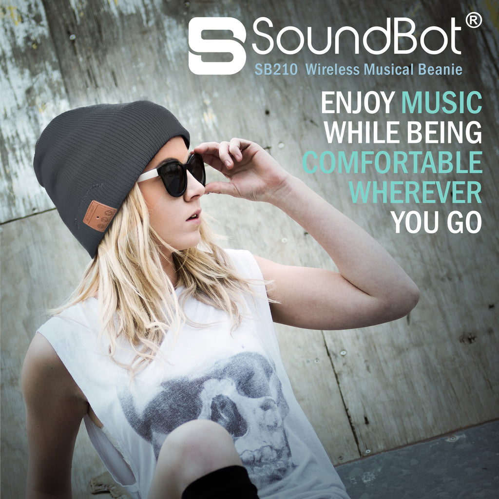 SoundBot® SB210 Bluetooth Wireless Musical Headset Beanie - SoundBot