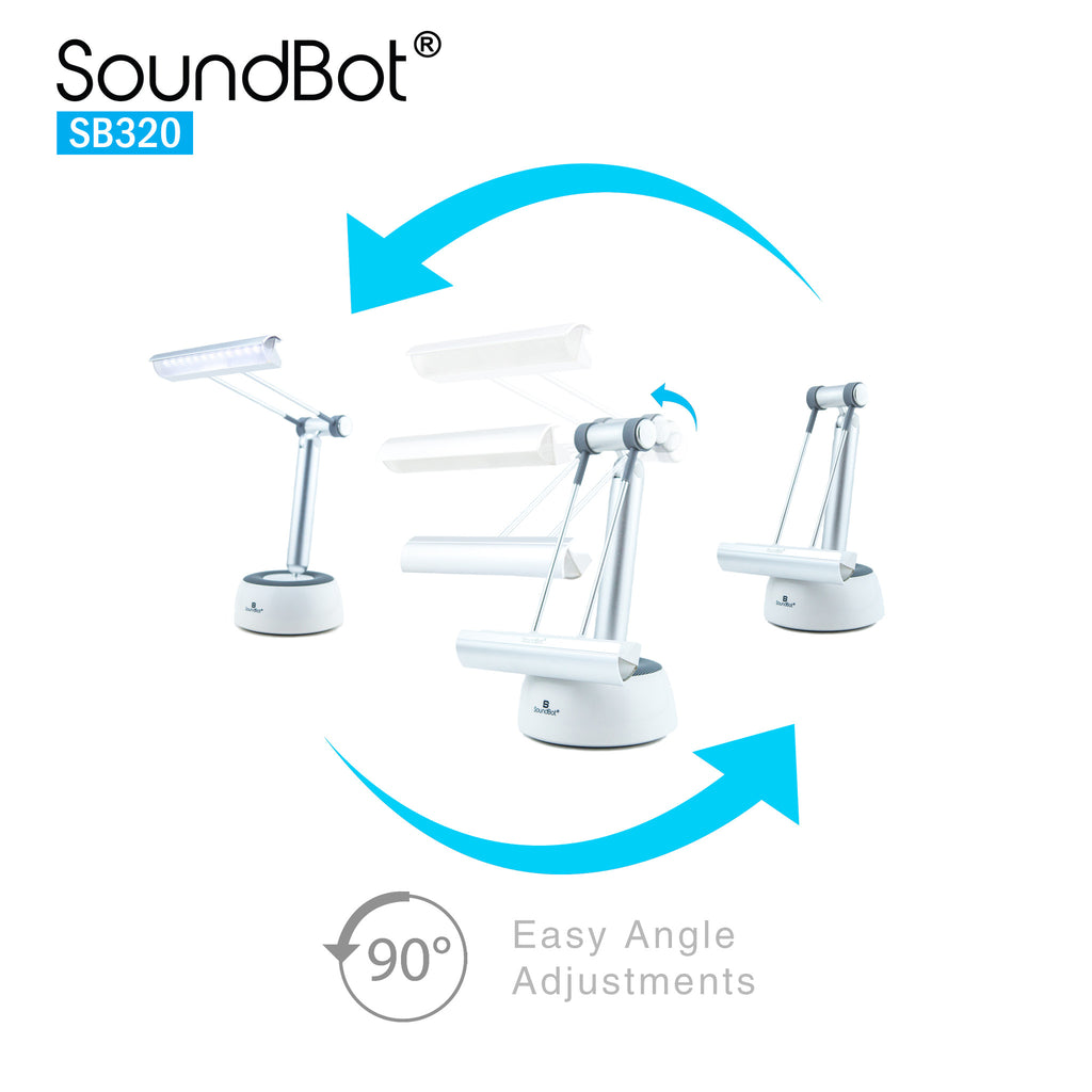 SounBot SB320 3 In 1 Portable Bluetooth Speaker,LED Desk Lamp,Tablet/Smartphone Stand Holder