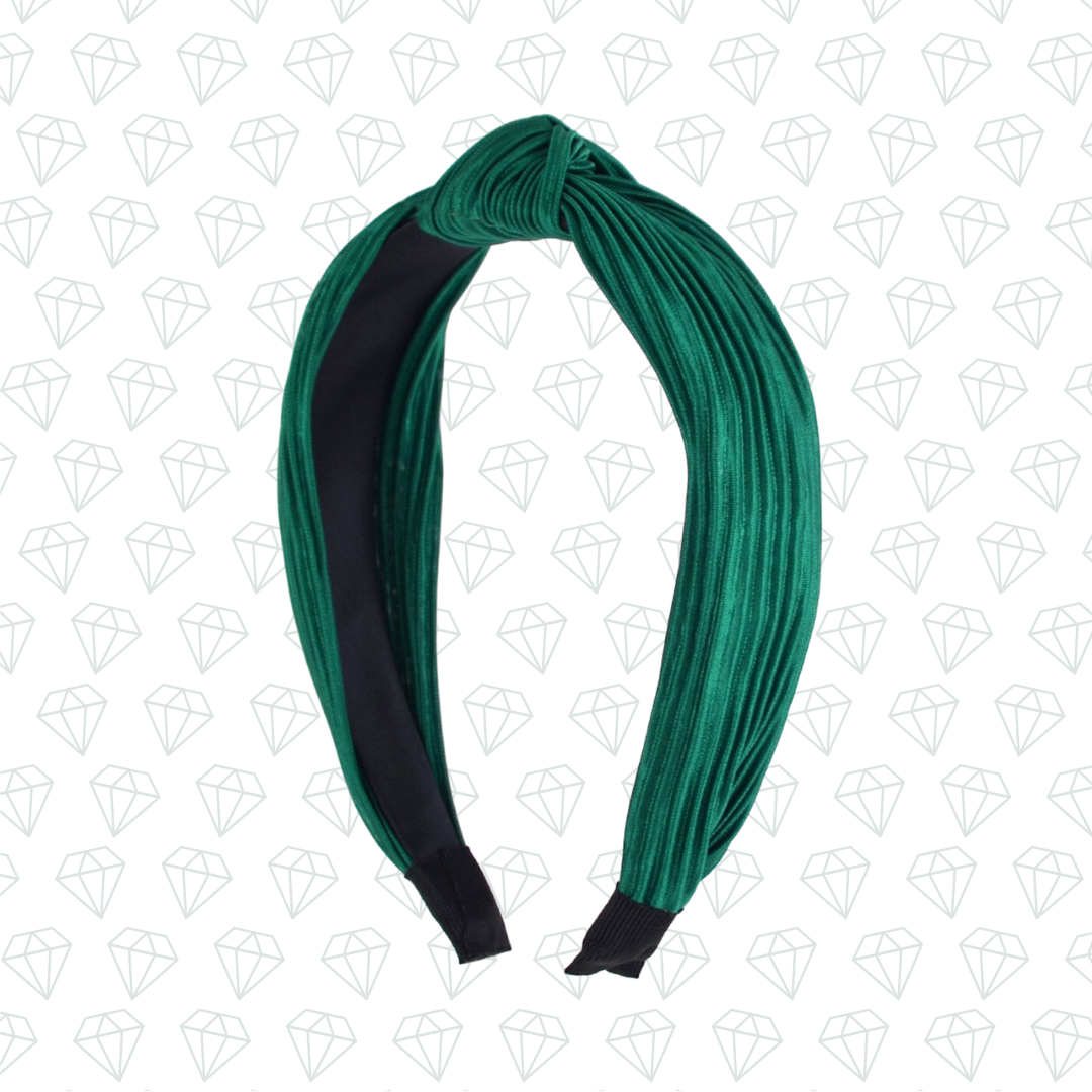 Emerald Top-Knot Headband