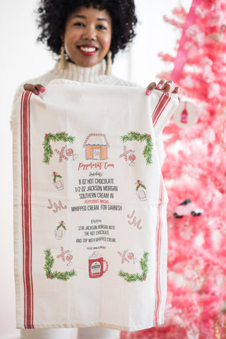 holiday tea towel from Jackson Morgan cream