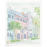 Rainbow Row Charleston Art Print By Simply Jessica Marie