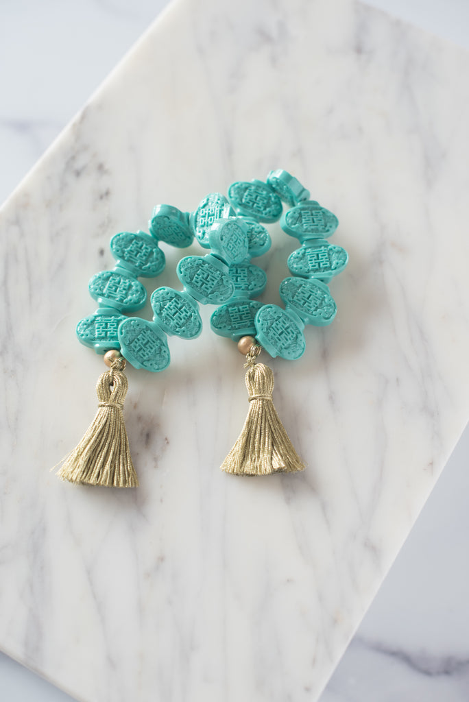 The Fulton Tassel Bracelet in Turquoise
