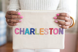 The Charleston Canvas Pouch