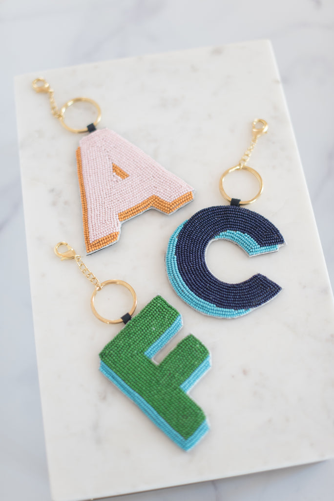 The Elsey Keychain in Navy & Blue