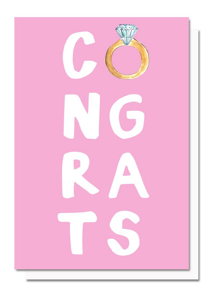 Congrats Engagement Greeting Card By Evelyn Henson