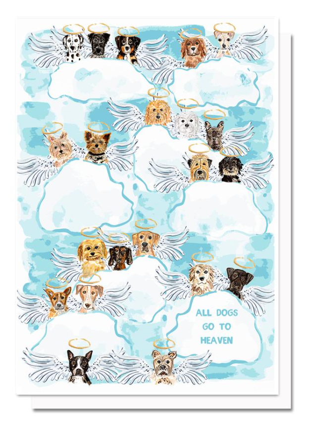 All Dogs Go To Heaven Greeting Card by Evelyn Henson