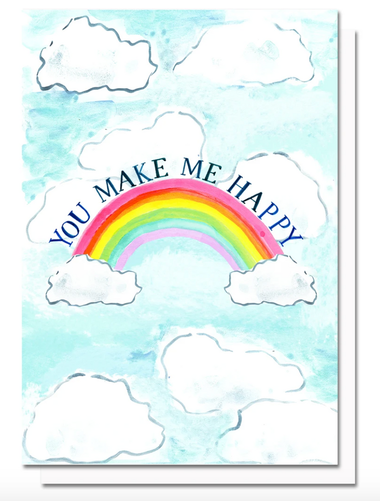 You Make Me Happy Rainbow Card by Evelyn Henson