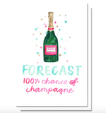 Champagne Forecast Card by Evelyn Henson