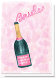 Champagne for the Bride Card by Evelyn Henson
