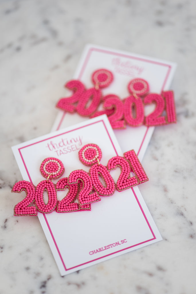 The 2021 Earring in Hot Pink