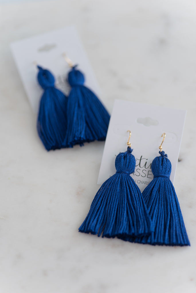 The Crescent Tassel Earring