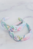 The Tiny Tassel Headband in Pastel Plaid