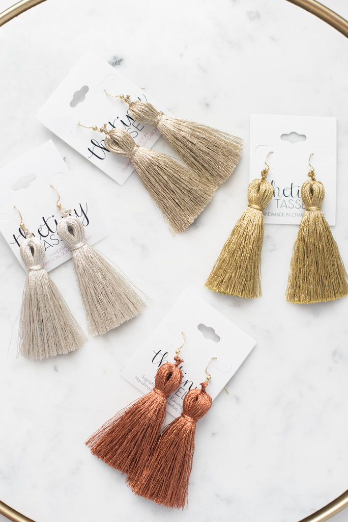 The St. Margaret Tassel Earring in Copper