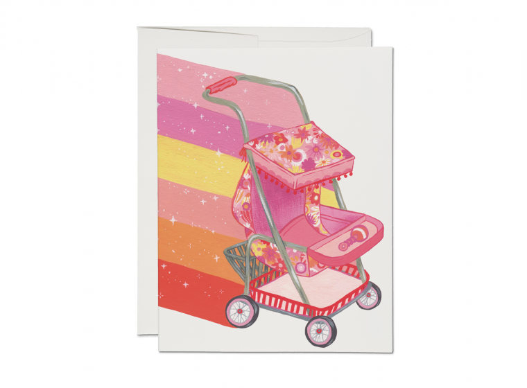 Magical Stroller Greeting Card