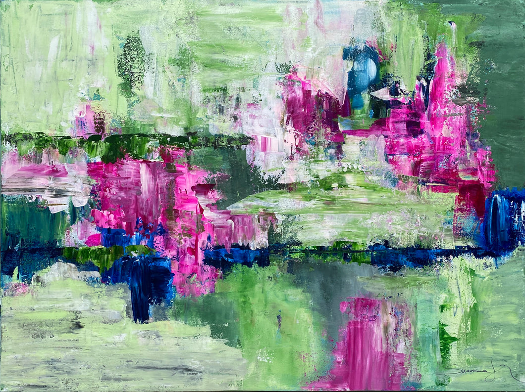 Mother's Day Blooms 40x30 Acrylic on Canvas