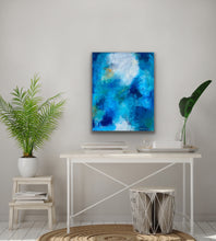 Load image into Gallery viewer, Little Blue 24x30 Acrylic on Canvas