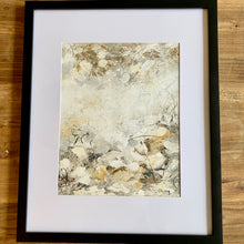 Load image into Gallery viewer, Earth Series #3 11x14 (matted & framed to 16x20) (price includes mat & frame) Oil on Paper