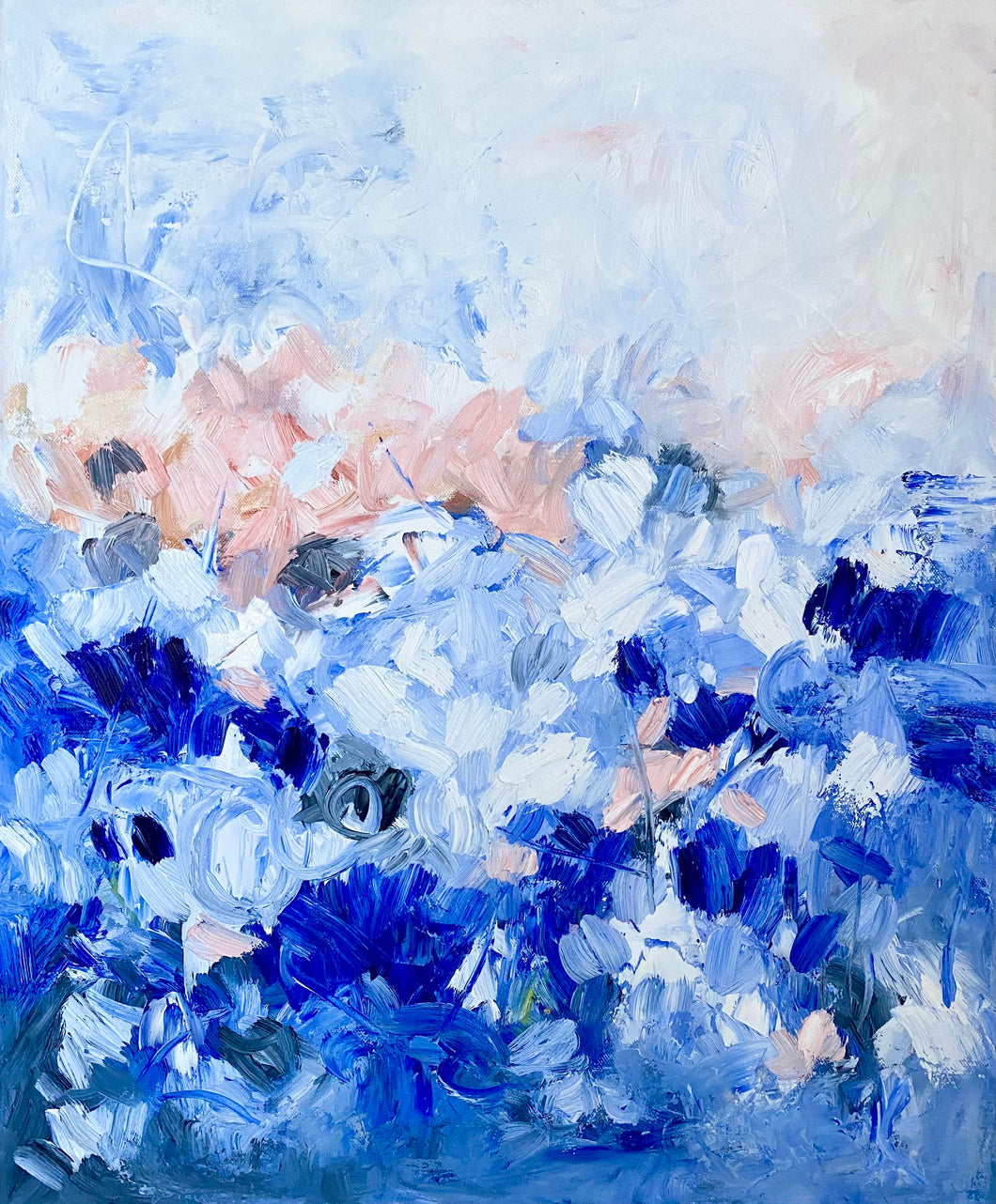 Pretty In Blue 20x24 Oil on Canvas