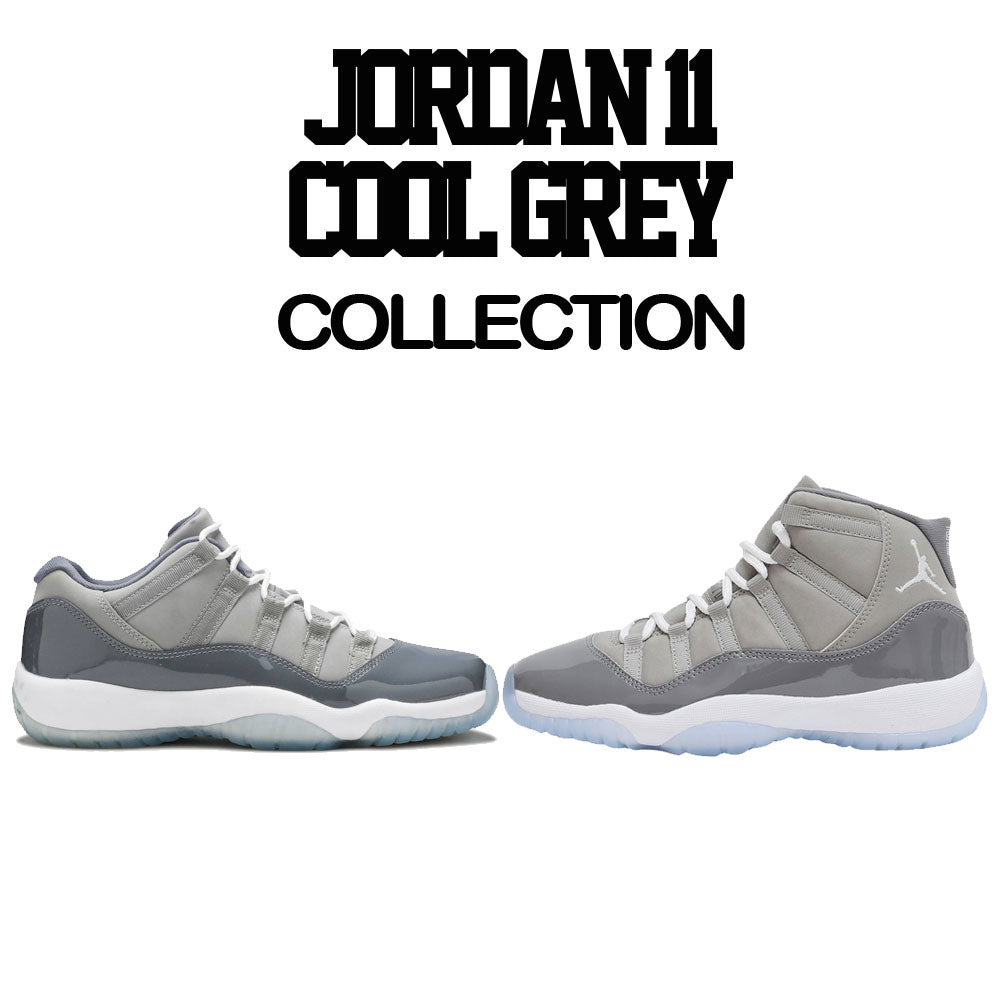 8bc9e71fc611a5 Shirts to match Jordan 11 low cool grey sneaker tees. Sneaker match  clothing for cool ...