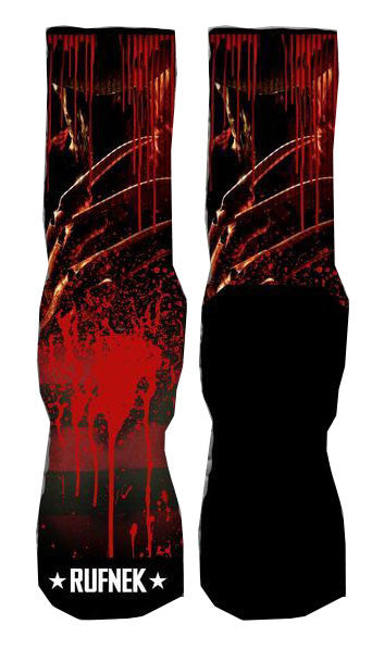Jordan 14 Black Toe Elite Socks - Killing Game Freddy - Black