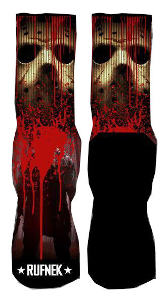 Jordan 14 Black Toe Elite Socks - Killing Game Jason - Black