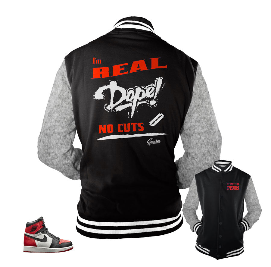 f7fa56ade8e Jackets match Jordan 1 bred toe | Official matching jackets.