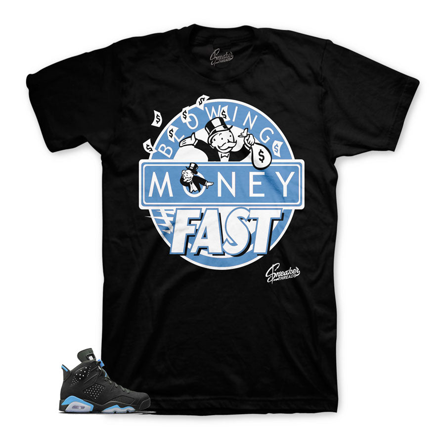 Jordan 6 UNC tees match retro 6's official | Time is money tees.