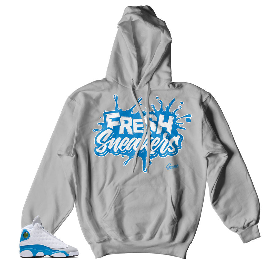 Jordan 13 italy blue hooded swetshirts match shoes | Official hoody.