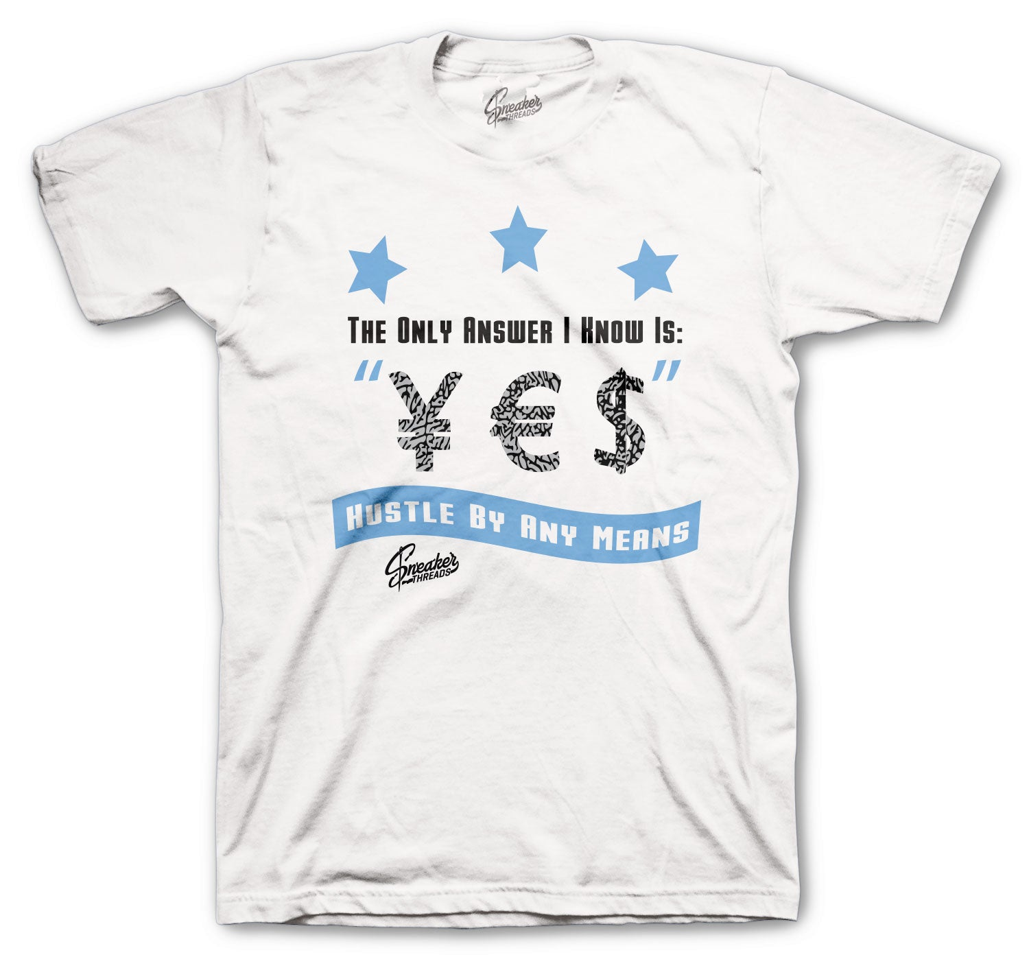 Jordan 3 UNC Shirt - Answer - White