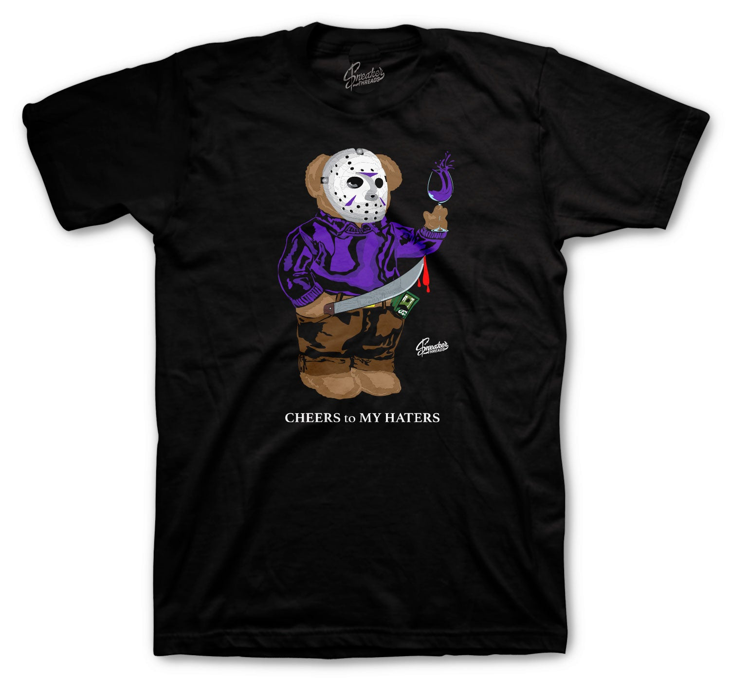Jordan 12 Dark Concord Shirt - Jason Bear - Black