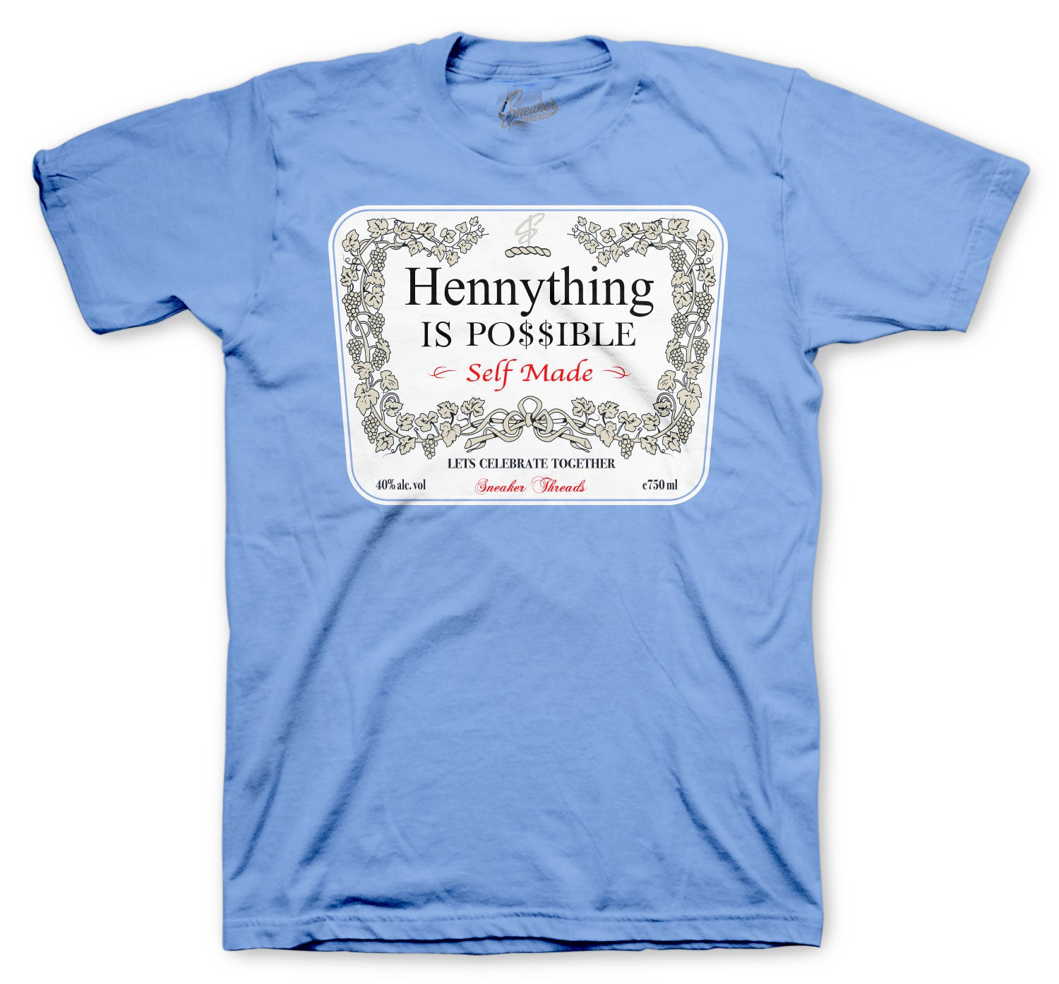 Jordan 3 UNC Shirt - Hennything - Light Blue