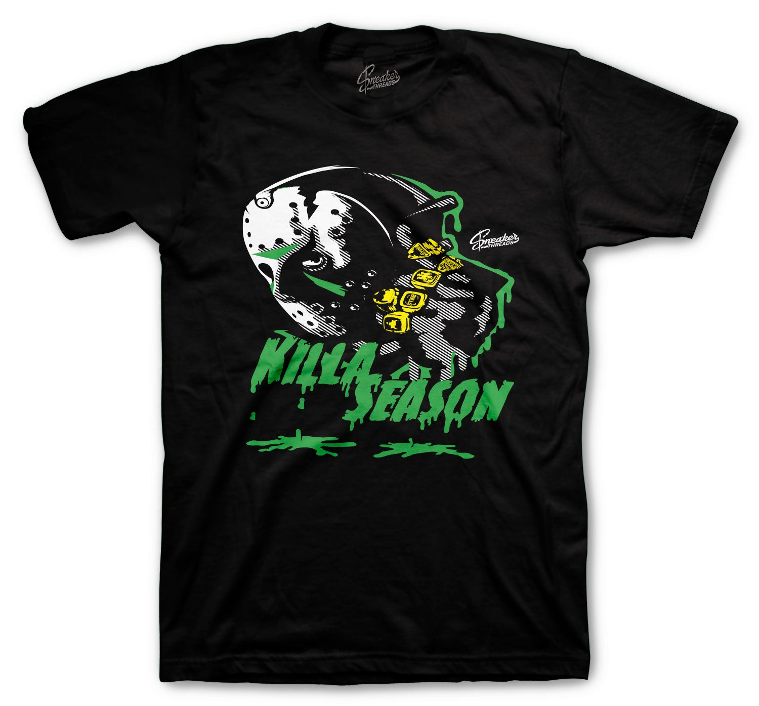 Jordan 13 Lucky Green Shirt - Killa Season - Black