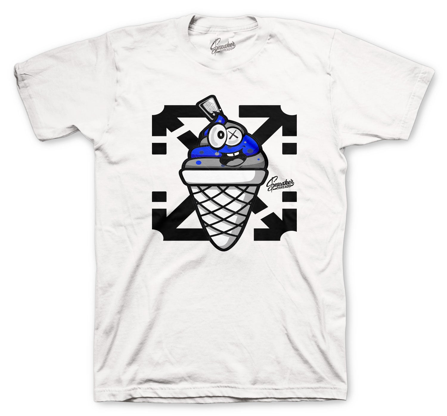 Jordan 14 Hyper Royal Shirt - Lucky Charm - White