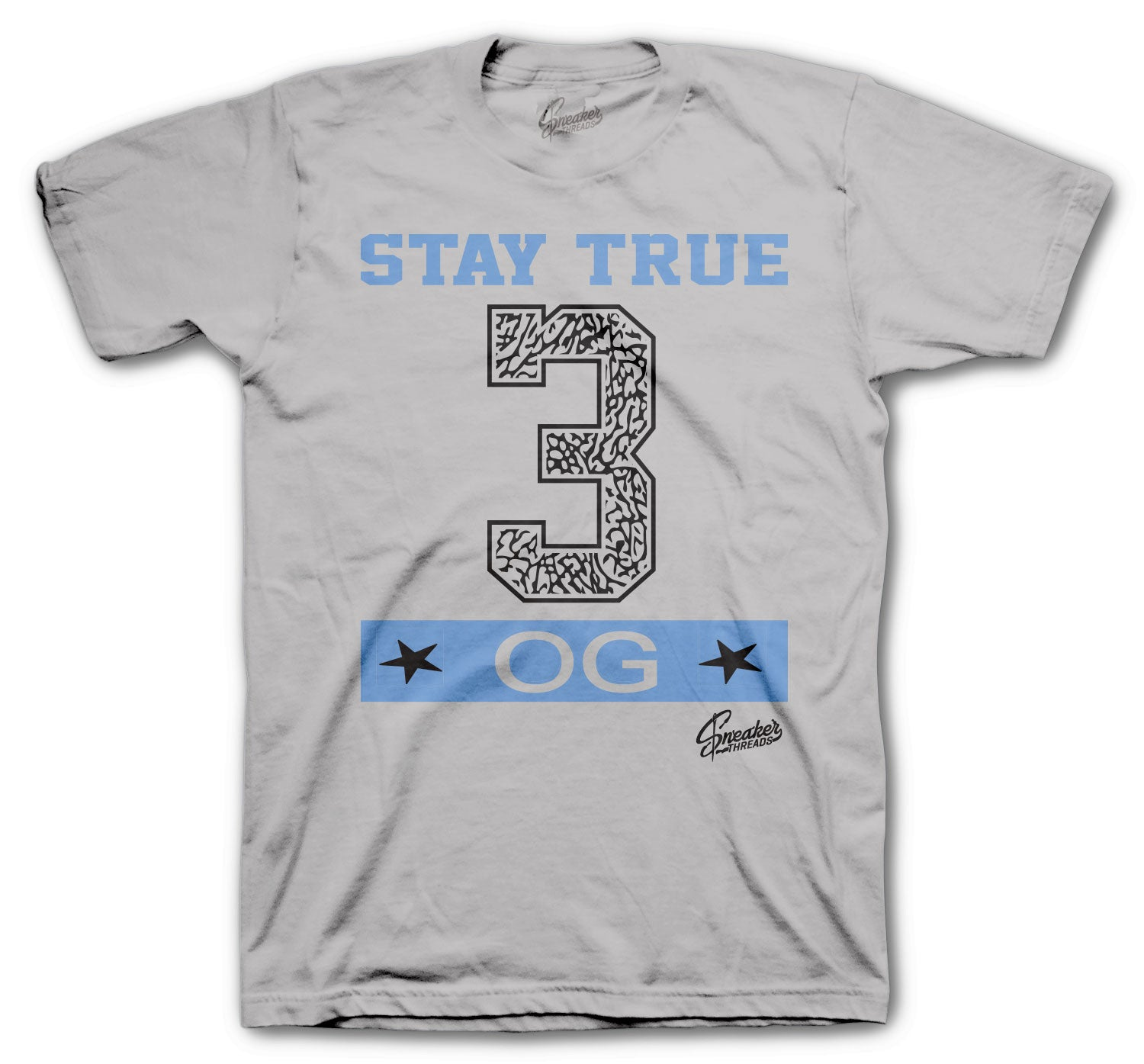 Jordan 3 UNC Shirt - Stay True - Grey