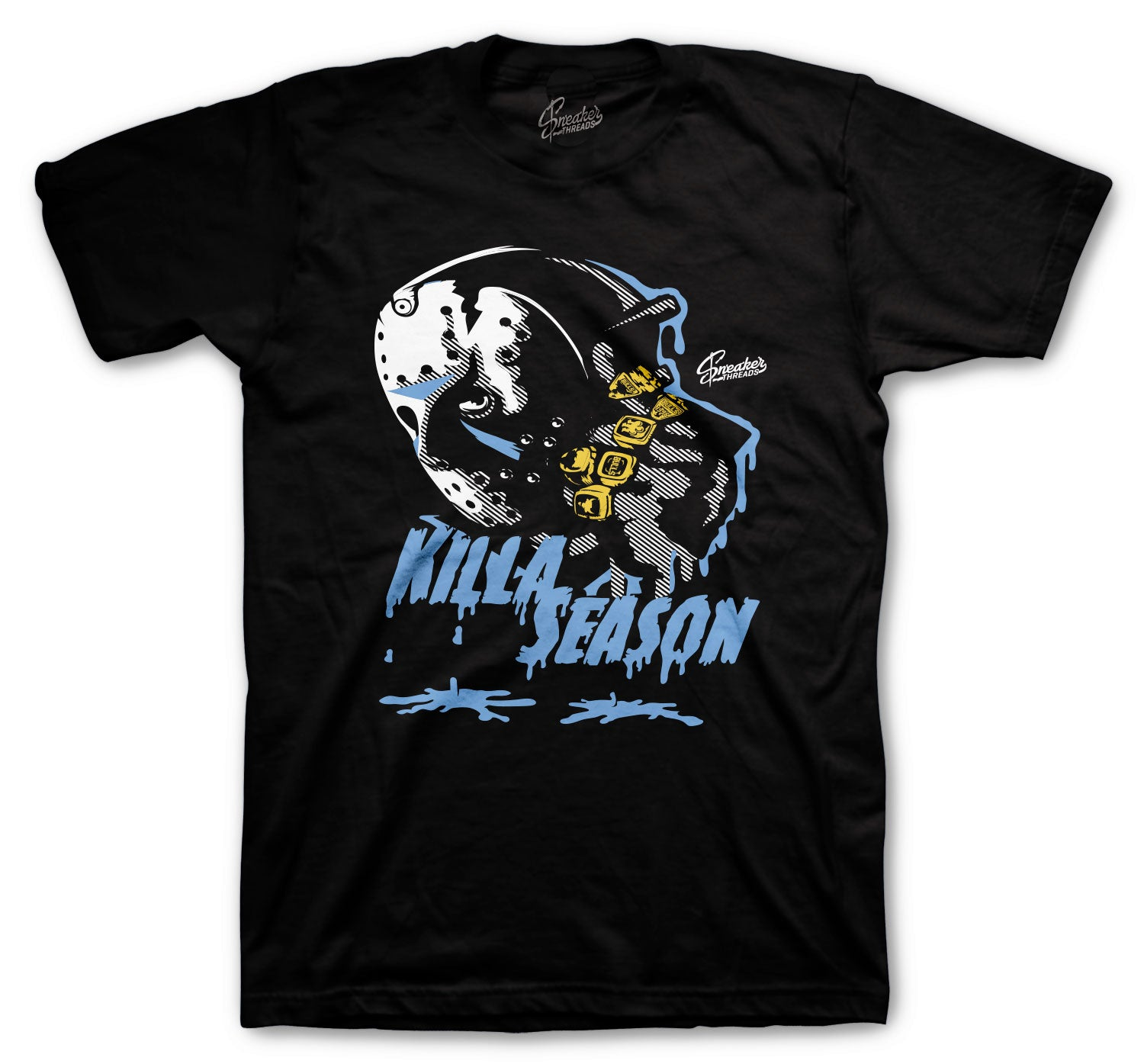 Jordan 3 UNC Shirt - Killa Season - Black