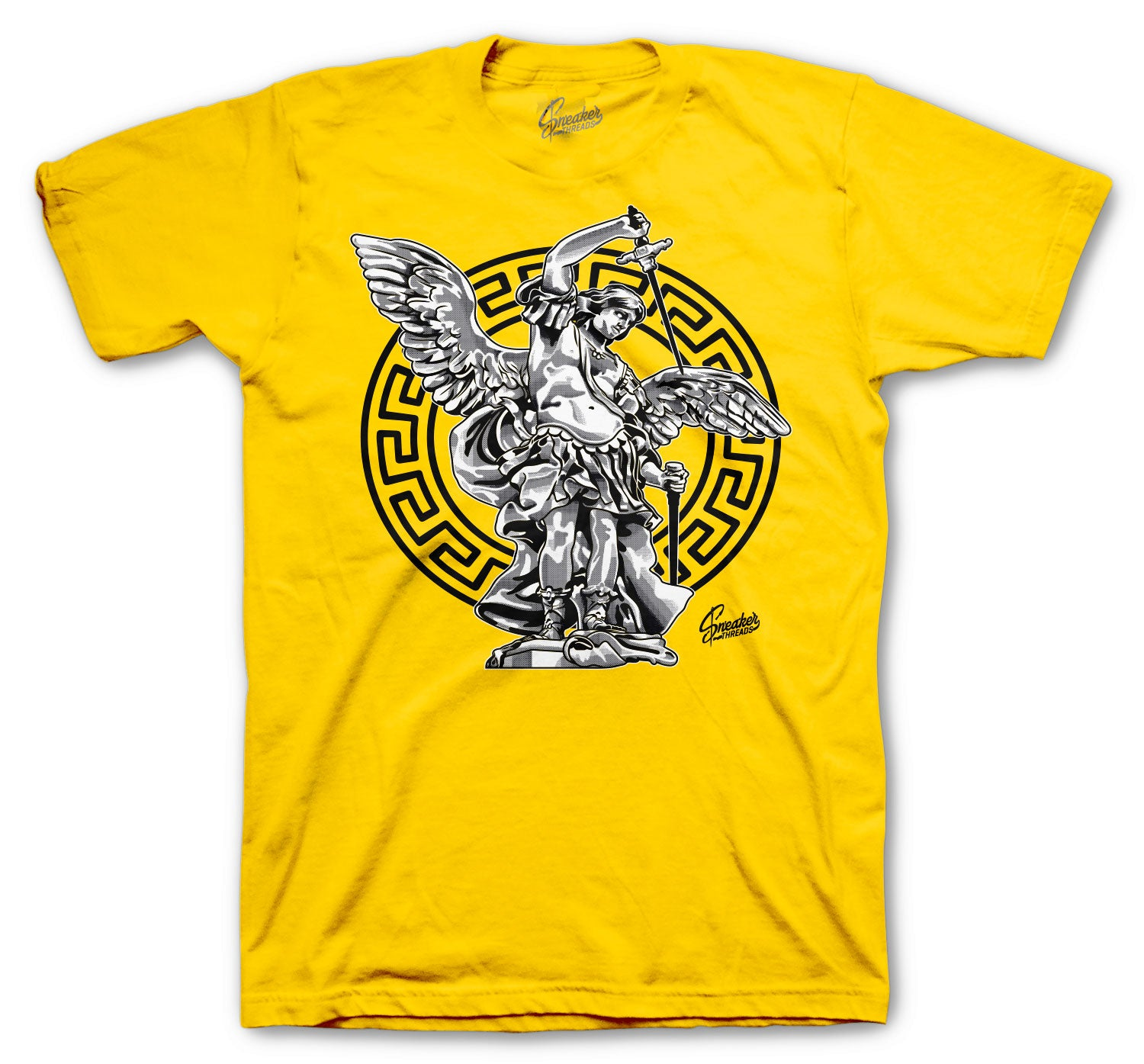 University Gold Jordan 12 sneaker collection matching with tees for guys