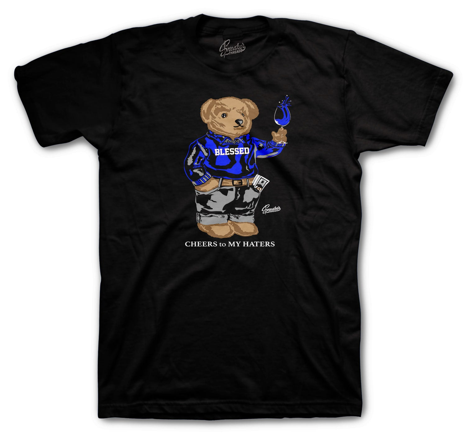 Jordan 14 Hyper Royal Shirt - Cheers Bear- Black